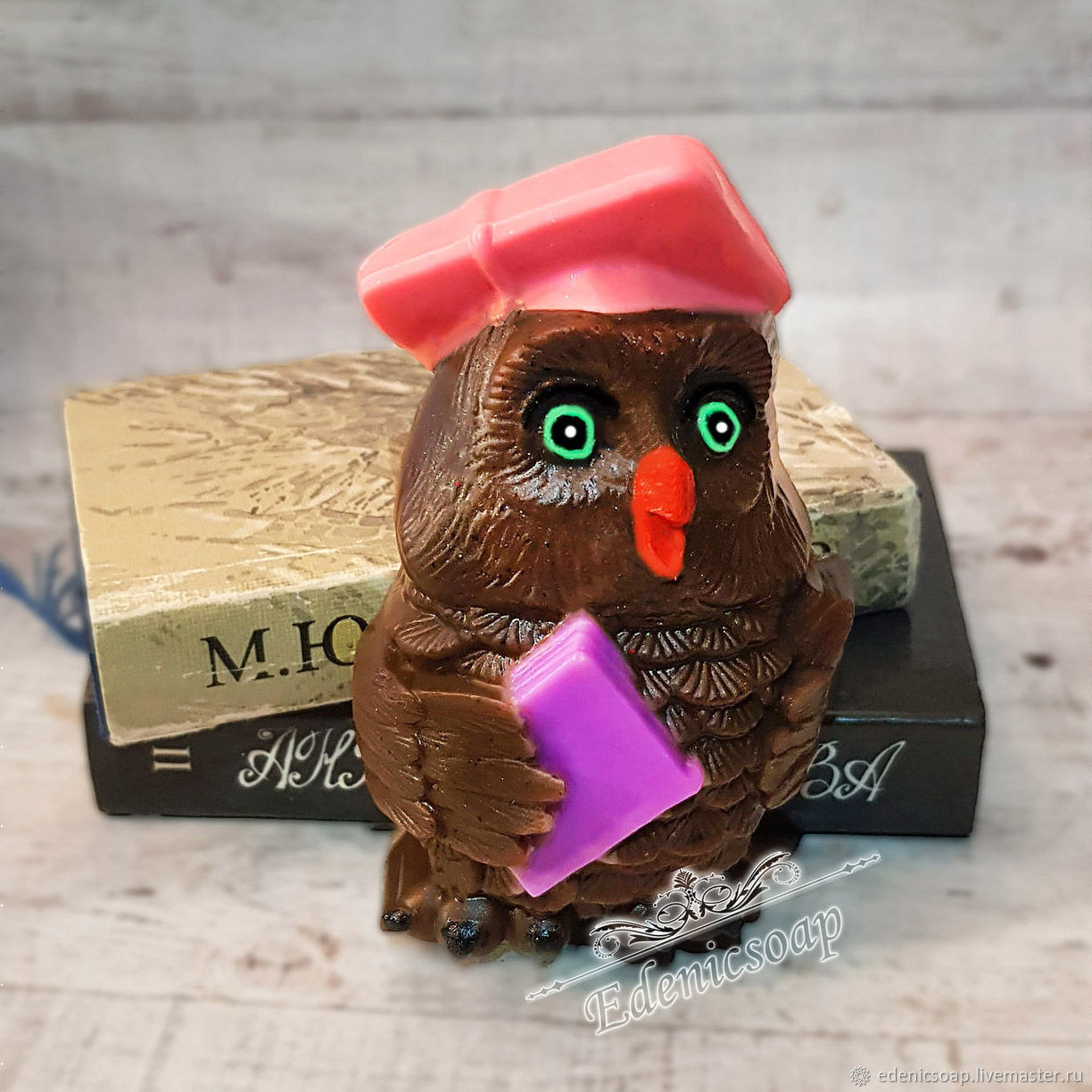 'Wise owl' handmade soap gift for school children, Soap, Moscow,  Фото №1