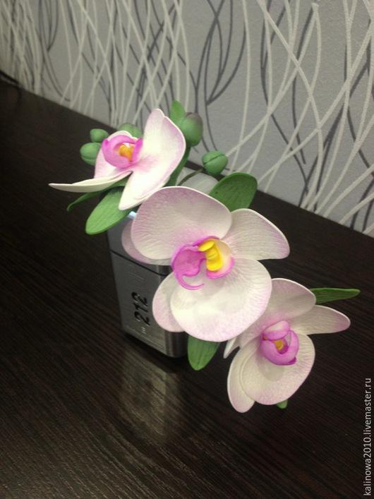 Диадемы, обручи ручной работы. Ярмарка Мастеров - ручная работа. Купить Ободок с орхидеей. Handmade. Разноцветный, фом эва