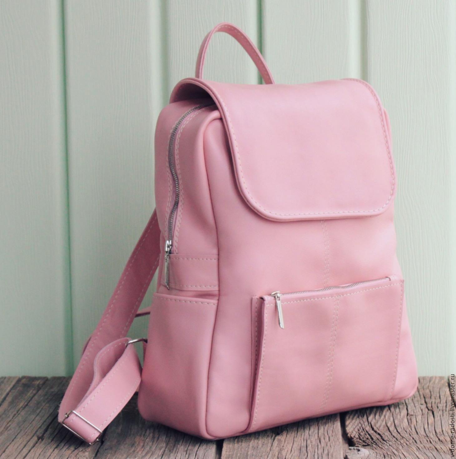 cb65e6ce284e ... Женский рюкзак, кожаный рюкзак, купить кожаный женский рюкзак,  портфель, розовый рюкзак, ...