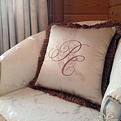 Для дома и интерьера handmade. Livemaster - original item Pillow embroidered. Handmade.