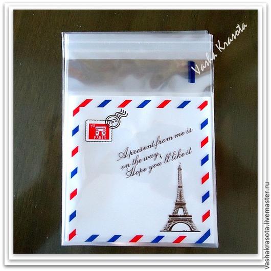 """Упаковка ручной работы. Ярмарка Мастеров - ручная работа. Купить Пакет """"Письмо"""" с клеевой лентой. Handmade. Разноцветный, пакетик"""