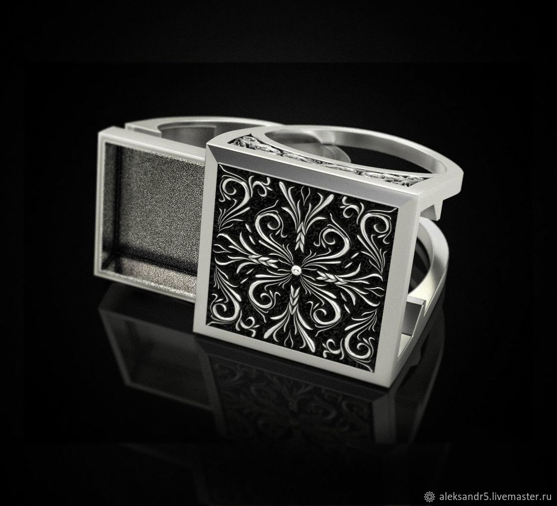 Signet ring:Secret signet, Signet Ring, Tolyatti,  Фото №1
