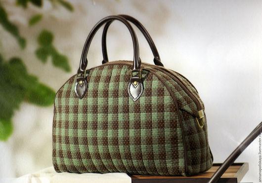 """Шитье ручной работы. Ярмарка Мастеров - ручная работа. Купить Набор для шитья сумки """"Зеленый кофе"""". Handmade."""