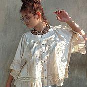 """Одежда ручной работы. Ярмарка Мастеров - ручная работа Бохо-блуза """"Адель.Cream"""". Handmade."""
