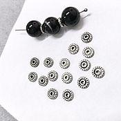 Материалы для творчества handmade. Livemaster - original item Metal beads, Beads Separating Discs Flat Round. Handmade.