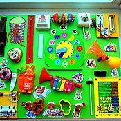 Куклы и игрушки ручной работы. Ярмарка Мастеров - ручная работа Бизиборд- лягушонок с телефоном))). Handmade.