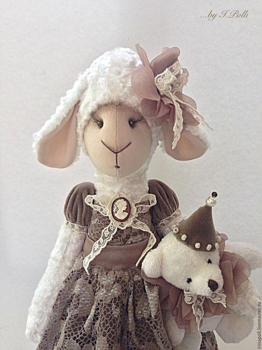 """Игрушки животные, ручной работы. Ярмарка Мастеров - ручная работа. Купить По мотивам """"Винтажная овечка Авелина"""". Handmade. Коричневый"""