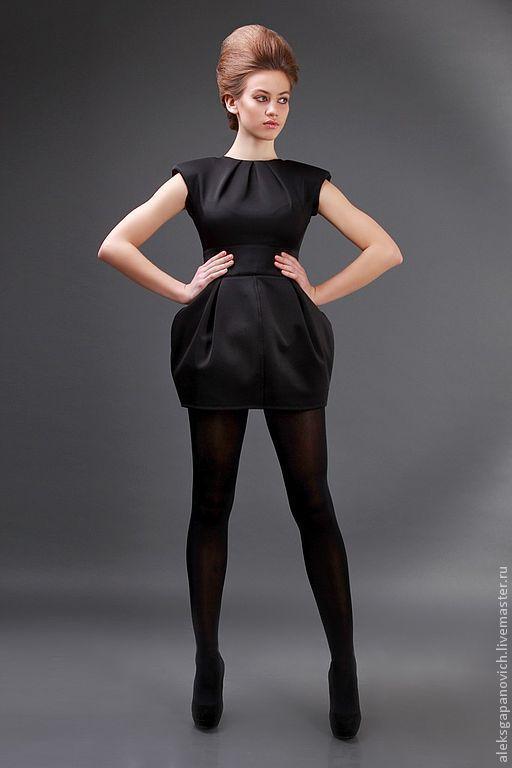 Платья ручной работы. Ярмарка Мастеров - ручная работа. Купить Платье черное. Handmade. Маленькое черное платье, необычное платье