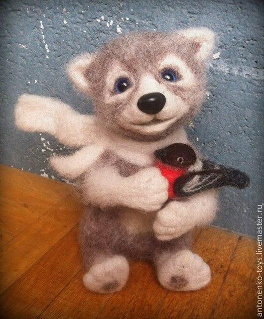 Игрушки животные, ручной работы. Ярмарка Мастеров - ручная работа. Купить волчонок Кандрат. Handmade. Волчонок, интерьерная игрушка