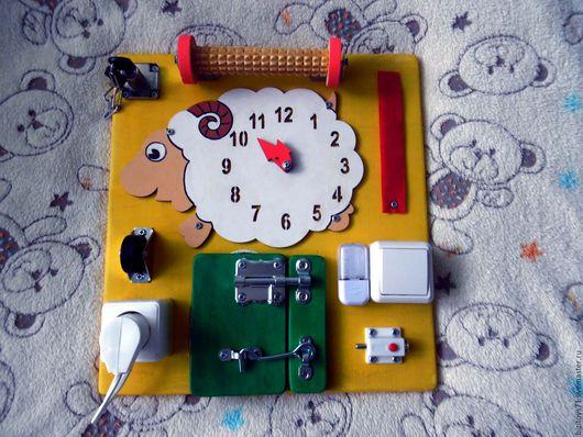 Развивающие игрушки ручной работы. Ярмарка Мастеров - ручная работа. Купить Бизиборд. Handmade. Желтый, в наличии, развивающая игрушка