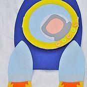 """Куклы и игрушки ручной работы. Ярмарка Мастеров - ручная работа Развивающая книга """"Космос"""". Handmade."""