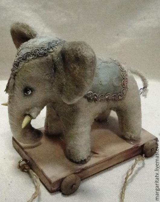 Мишки Тедди ручной работы. Ярмарка Мастеров - ручная работа. Купить Слоник. Handmade. Белый, тедди, винтажное кружево