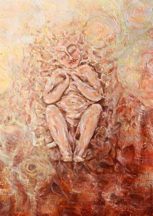 """Абстракция ручной работы. Ярмарка Мастеров - ручная работа. Купить картина на холсте маслом """" Человек и природа"""". Handmade. Комбинированный"""