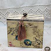 Для дома и интерьера handmade. Livemaster - original item Box storage box for small items of bulk products retro. Handmade.