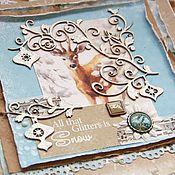 """Открытки ручной работы. Ярмарка Мастеров - ручная работа Новогодняя открытка """"Лесной олень"""". Handmade."""