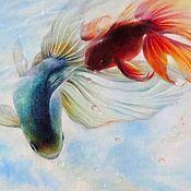 Картины и панно ручной работы. Ярмарка Мастеров - ручная работа Лето в небесном пруду. Handmade.