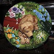 Посуда ручной работы. Ярмарка Мастеров - ручная работа Тарелка керамическая декоративная. Handmade.