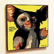 Картины и панно handmade. Livemaster - original item Picture Gizmo in the style of Pop Art, Gremlins. Handmade.