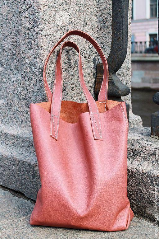 Женские сумки ручной работы. Ярмарка Мастеров - ручная работа. Купить сумка - мешок ( Шоппер розовый ). Handmade.