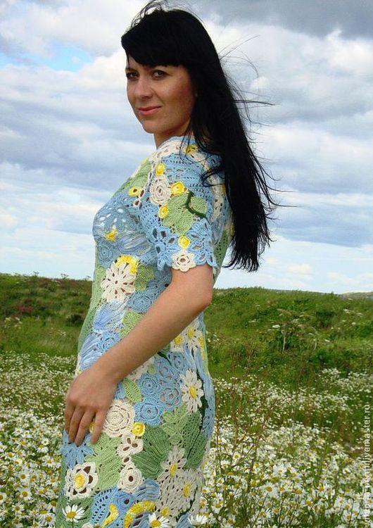 """Платья ручной работы. Ярмарка Мастеров - ручная работа. Купить Авторское платье"""" Полевые цветы"""". Handmade. Летнее платье"""