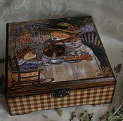"""Для дома и интерьера ручной работы. Ярмарка Мастеров - ручная работа Шкатулка """"В гостях у бабушки"""". Handmade."""