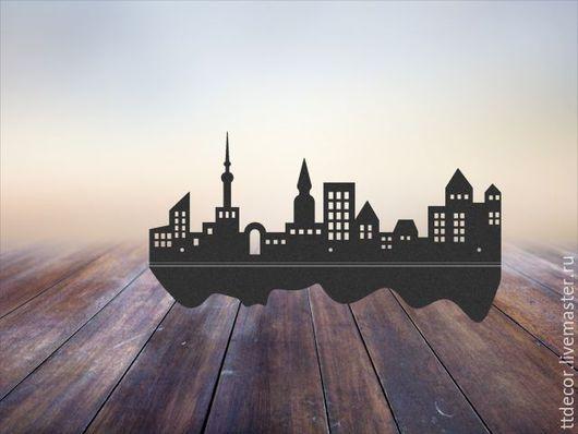 """Мебель ручной работы. Ярмарка Мастеров - ручная работа. Купить Полка для мелочей """"Ночной город"""". Handmade. Черный, подарок"""