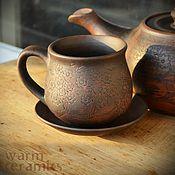 "Посуда ручной работы. Ярмарка Мастеров - ручная работа Чайная пара ""Цвет сакуры"". Handmade."