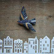 Украшения ручной работы. Ярмарка Мастеров - ручная работа Сила крыла текстильная брошь. Handmade.