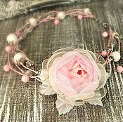 Работы для детей, handmade. Livemaster - original item Fairy Morning Roses. necklace and brooch flower. Handmade.