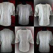 Одежда handmade. Livemaster - original item 100% linen yarn.Tunic with cap sleeves TRANSITIONS. Handmade.