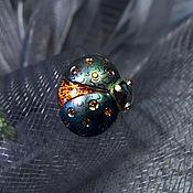 Украшения handmade. Livemaster - original item LITTLE BEETLE-FIREFLY Pin Brooch / Titanium Brooch. Handmade.