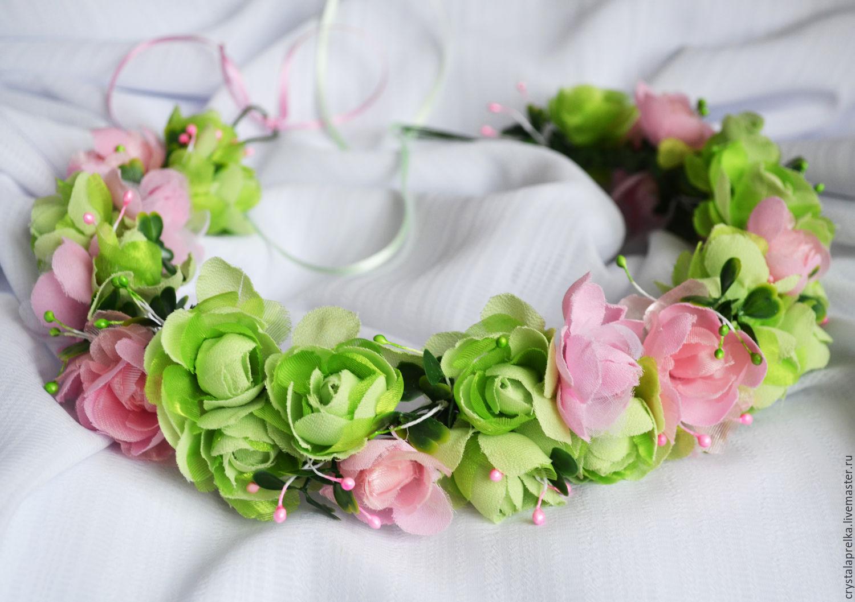 Венки на голову из цветов своими руками мастер класс