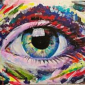 Картины и панно handmade. Livemaster - original item Interior painting all-Seeing eye. Handmade.