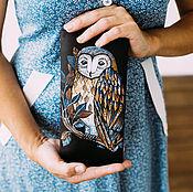 Сумки и аксессуары handmade. Livemaster - original item Leather purse hand painted boho. Handmade.