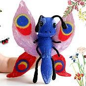 handmade. Livemaster - original item Butterfly felting hand toy, glove doll, puppet theater. Handmade.