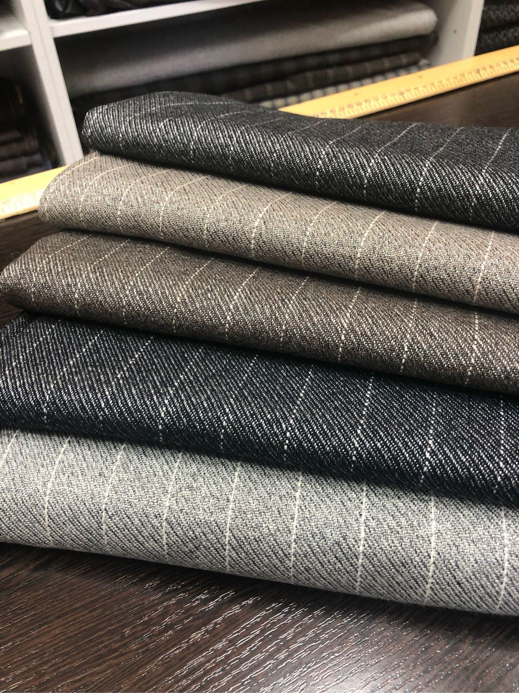 The fabric is Italian wool suiting 'Strip', Fabric, Taganrog,  Фото №1