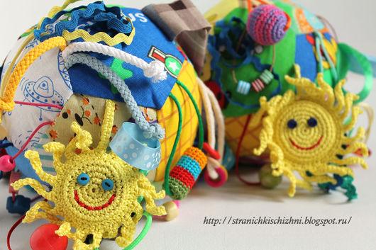 Развивающие игрушки ручной работы. Ярмарка Мастеров - ручная работа. Купить Развивающий мячик. Handmade. Комбинированный, развивающая игрушка, холофайбер