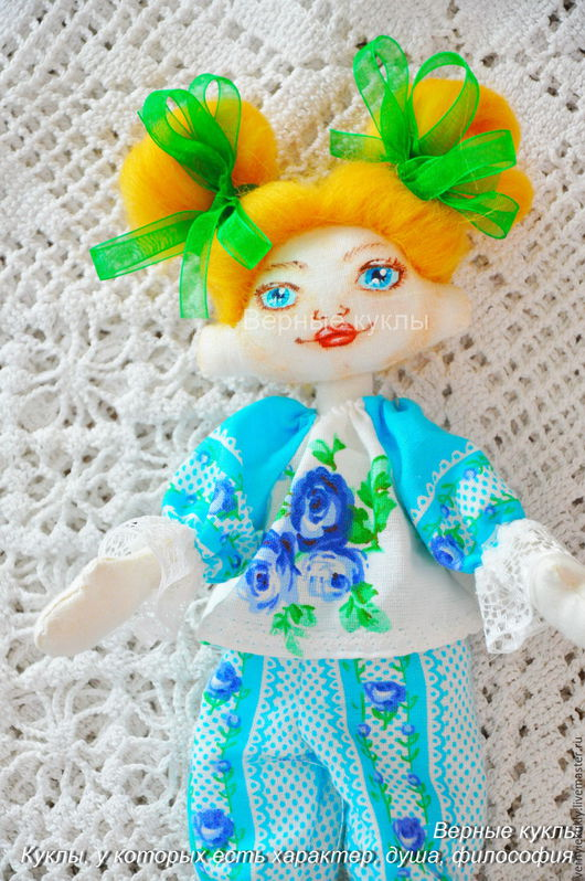 Куклы тыквоголовки ручной работы. Ярмарка Мастеров - ручная работа. Купить Куколки-попутчицы 1. Handmade. Бирюзовый, зееленый, попутчица