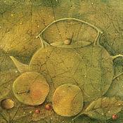 Картины и панно ручной работы. Ярмарка Мастеров - ручная работа Чайник для первого снега...Картина-принт на холсте.. Handmade.