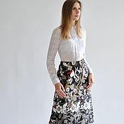 Одежда handmade. Livemaster - original item Skirt flowers of the Forest. Handmade.