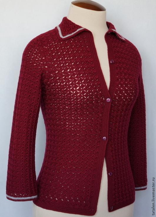 """Пиджаки, жакеты ручной работы. Ярмарка Мастеров - ручная работа. Купить Жакет """"Цвета красного вина"""". Handmade. Бордовый"""