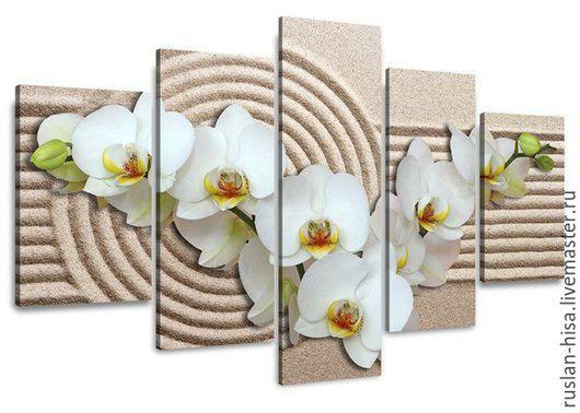 Картины цветов ручной работы. Ярмарка Мастеров - ручная работа. Купить Орхидеи. Handmade. Белый, цветы, купить, Декор