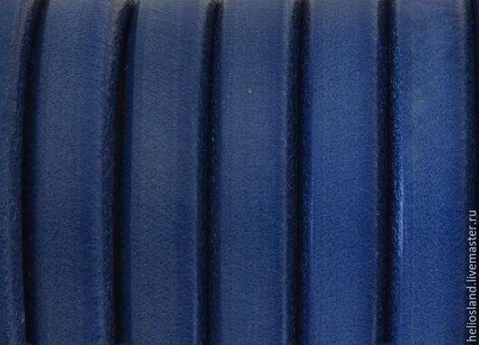Для украшений ручной работы. Ярмарка Мастеров - ручная работа. Купить Кожаный шнур REGALIZ синий, темно-голубой. Handmade.
