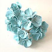 Свадебный салон handmade. Livemaster - original item Studs with turquoise hydrangea. Handmade.