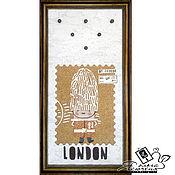Картины и панно handmade. Livemaster - original item Copy of Copy of Copy of Key holder  «Snowy Fable». Handmade.