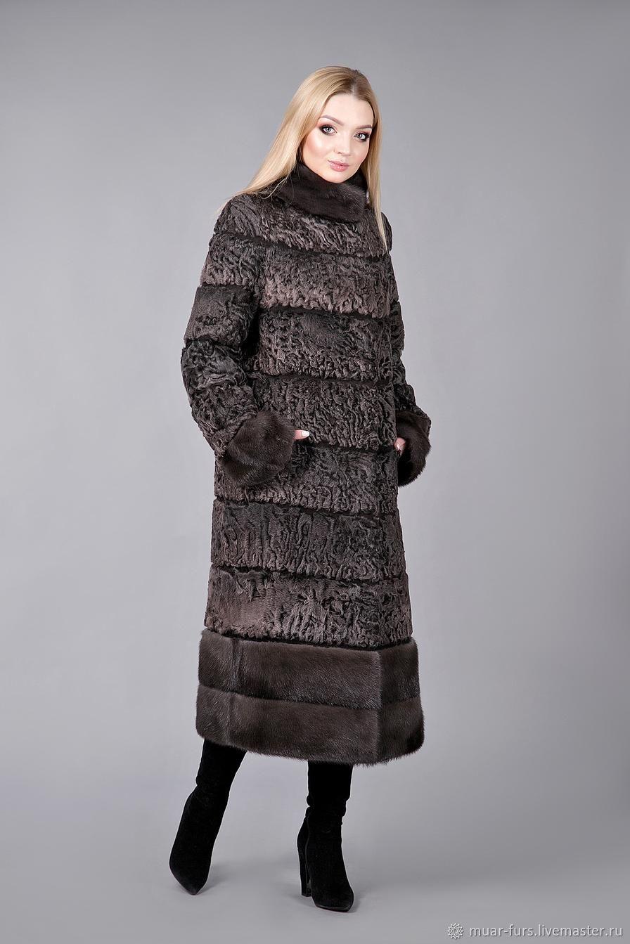 Fur coat Astrakhan 'Ksenia'. Astrakhan fur coat. The coat of a Doodle, Fur Coats, Kirov,  Фото №1