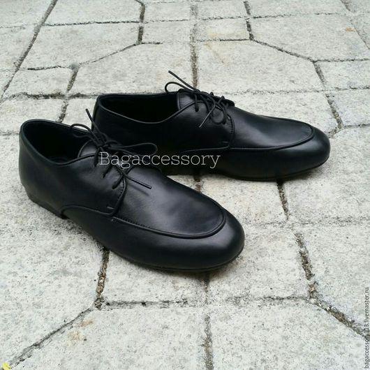 Обувь ручной работы. Ярмарка Мастеров - ручная работа. Купить Ботинки из натуральной кожи. Handmade. Черный, ботинки ручной работы