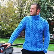 """Одежда ручной работы. Ярмарка Мастеров - ручная работа свитер """"Fishermen""""небо. Handmade."""