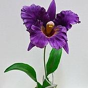 Цветы и флористика ручной работы. Ярмарка Мастеров - ручная работа Орхидея Каттлея. Handmade.