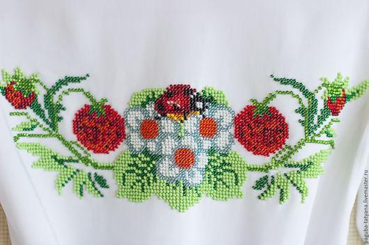 """Одежда для девочек, ручной работы. Ярмарка Мастеров - ручная работа. Купить Платье """"Клубничка-ягодка"""". Handmade. Платье для девочки"""